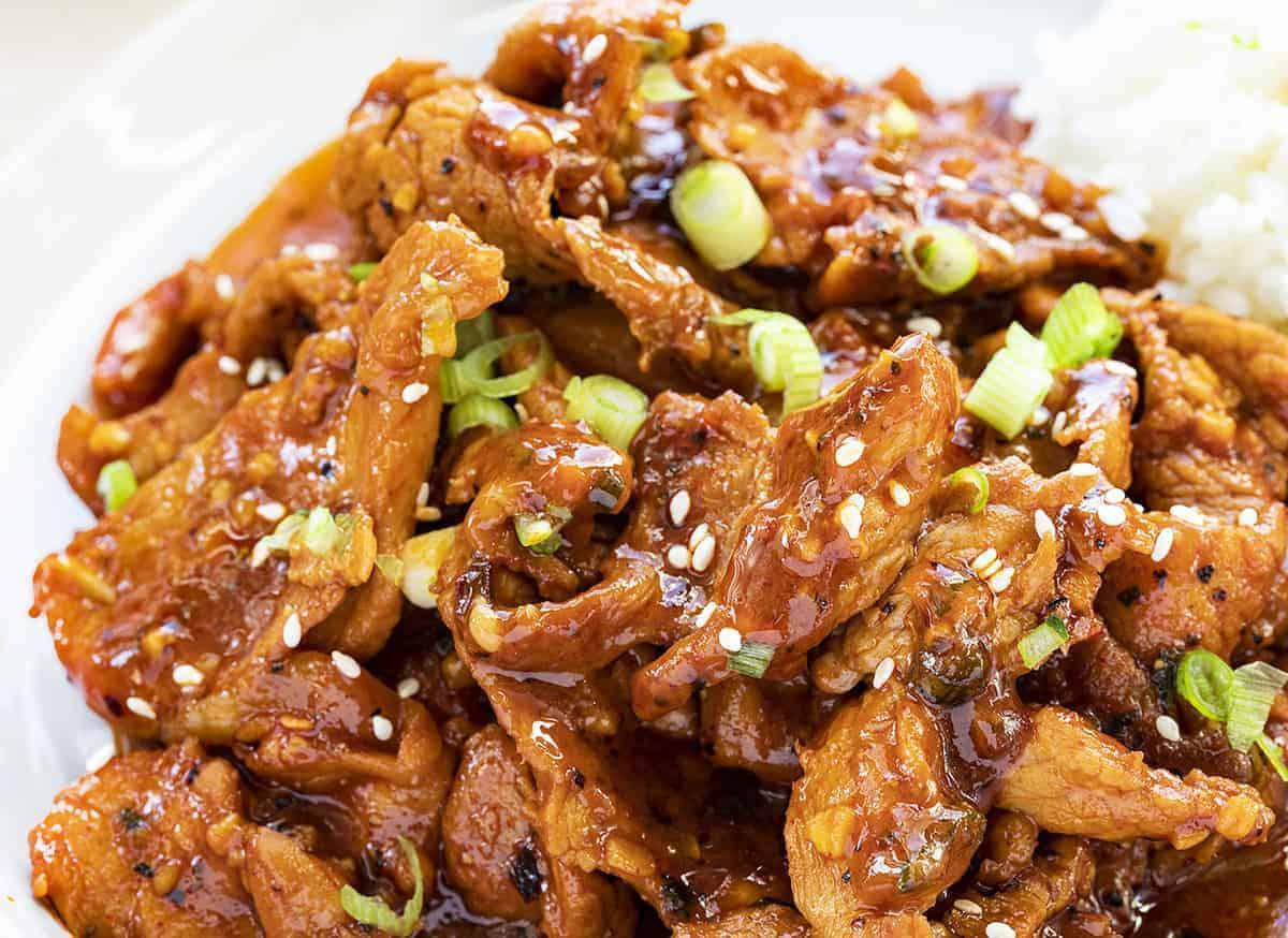 Korean BBQ Pork Recipe Piled High