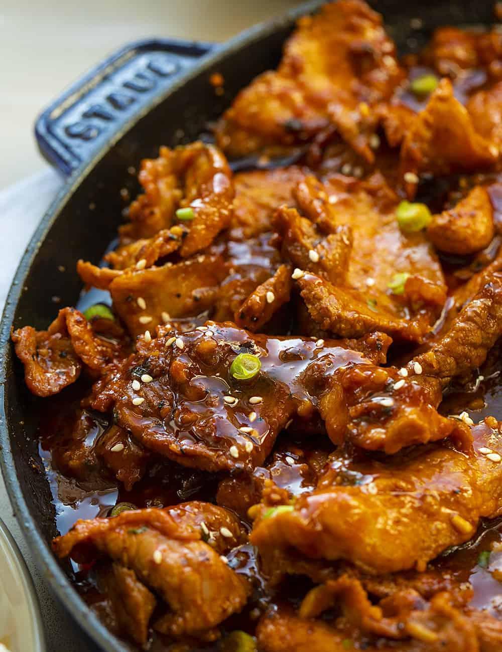 Korean BBQ Pork Recipe in Skillet