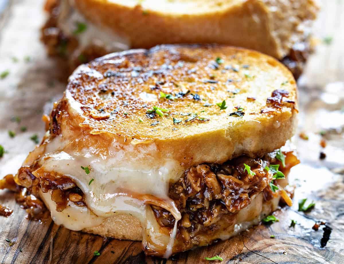 BBQ Chicken Grilled Cheese