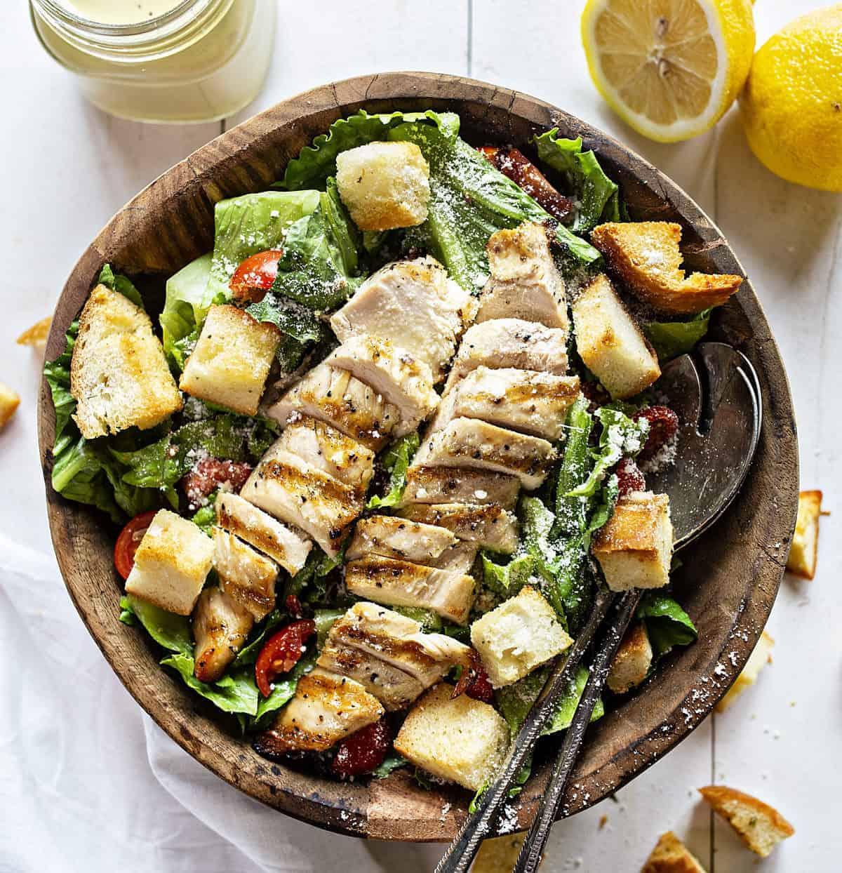 Homemade Chicken Ceasar Salad