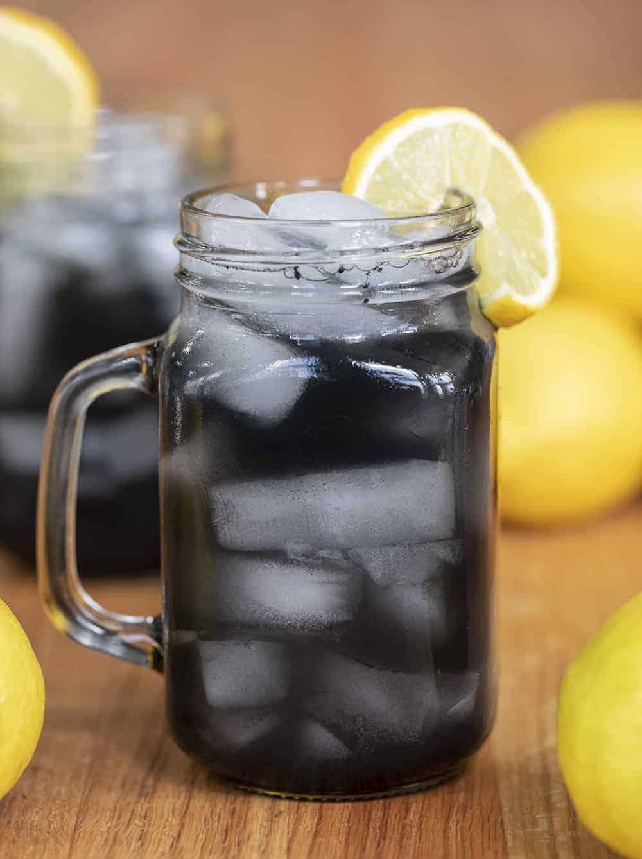 Glass of Charcoal Lemonade