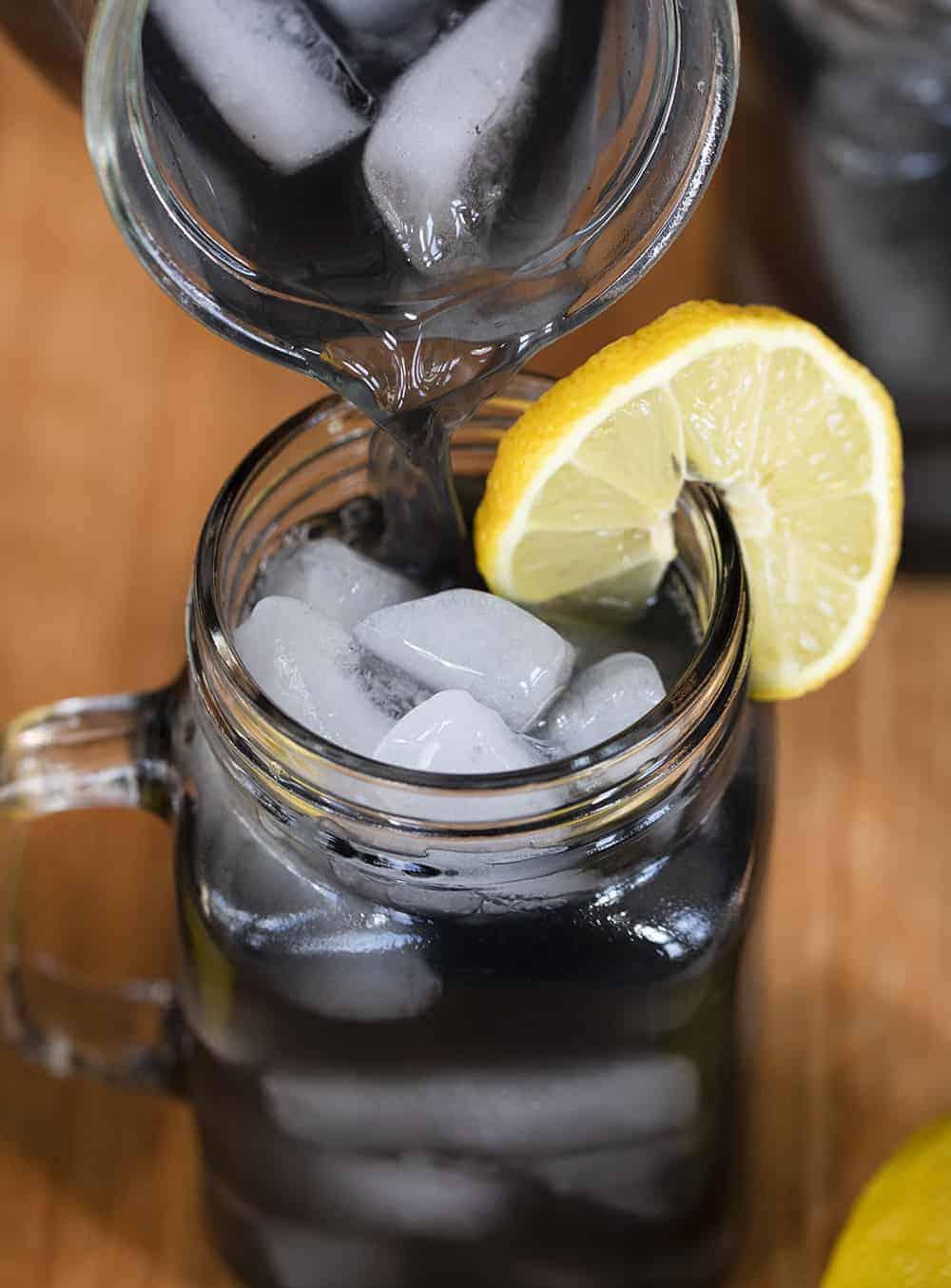 Pouring Charcoal Lemonade