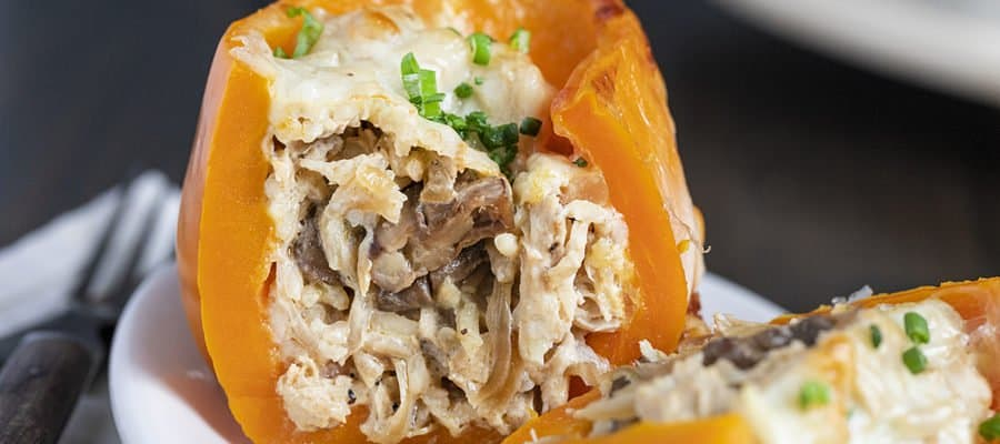 Chicken Mushroom Stuffed Peppers