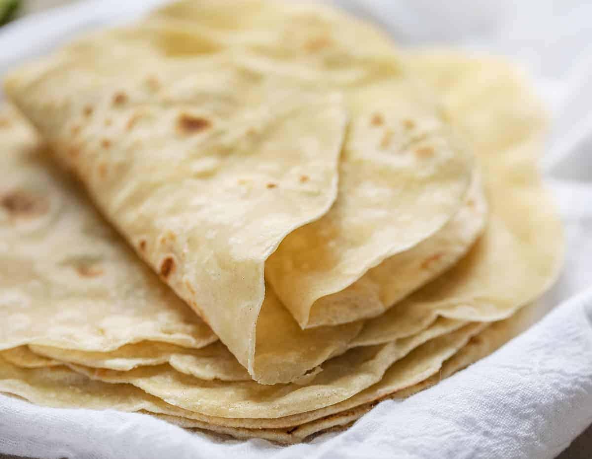 Rolled Over Homemade Flour Tortilla
