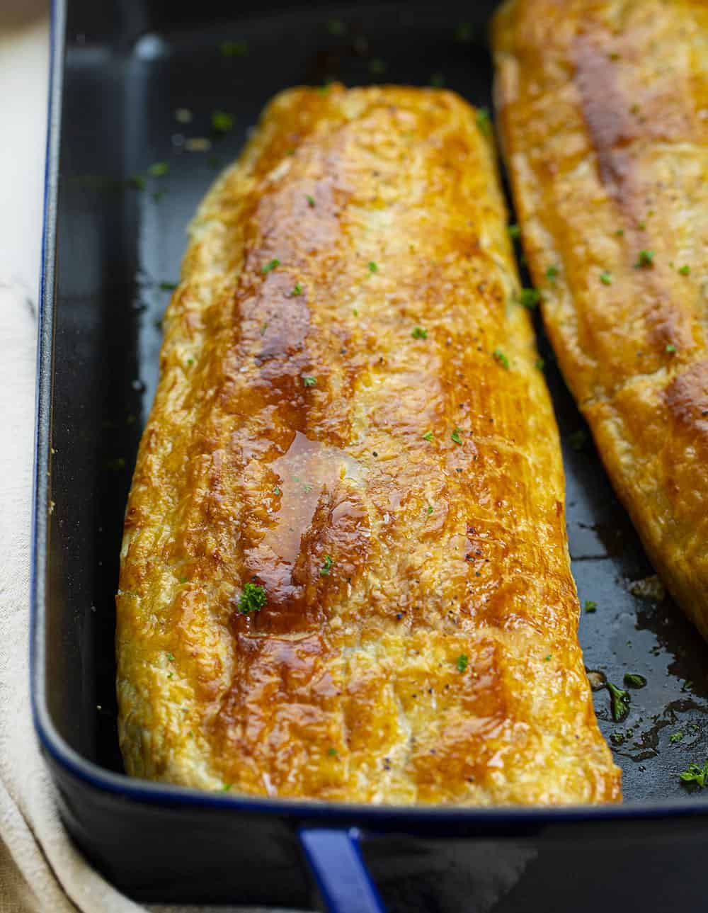 Puff Pastry Zucchini Boat in a Casserole Pan