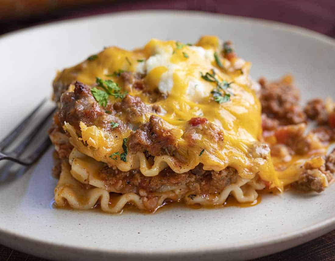 Easy Lasagna Recipe on a Plate