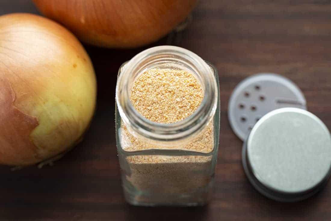 Homemade Onion Powder in a Jar