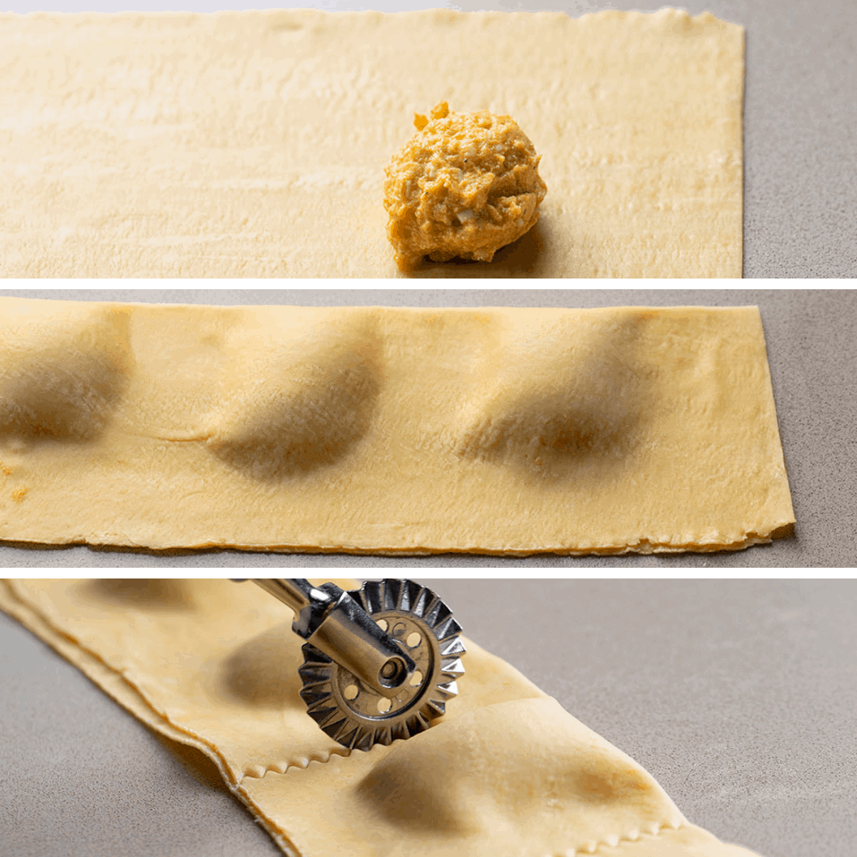Process Images for Homemade Pumpkin Ravioli with Garlic Brown Butter