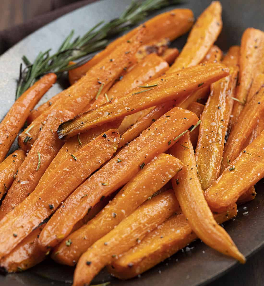 Close up of Air Fryer Carrots