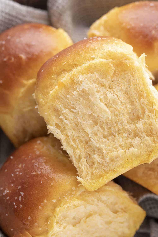Sweet Potato Rolls very Close Up