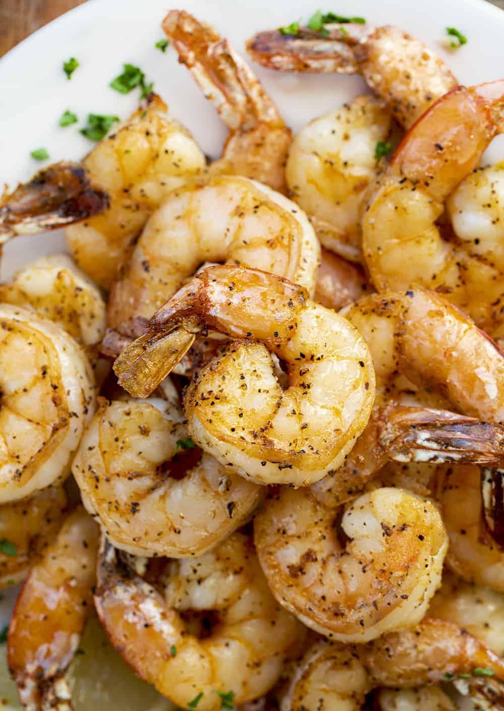 Air Fryer Shrimp on Plate
