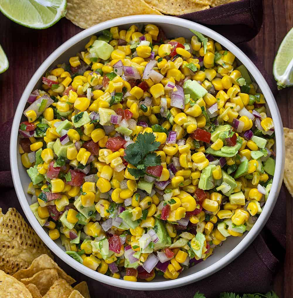 Avocado Corn Salsa in Bowl