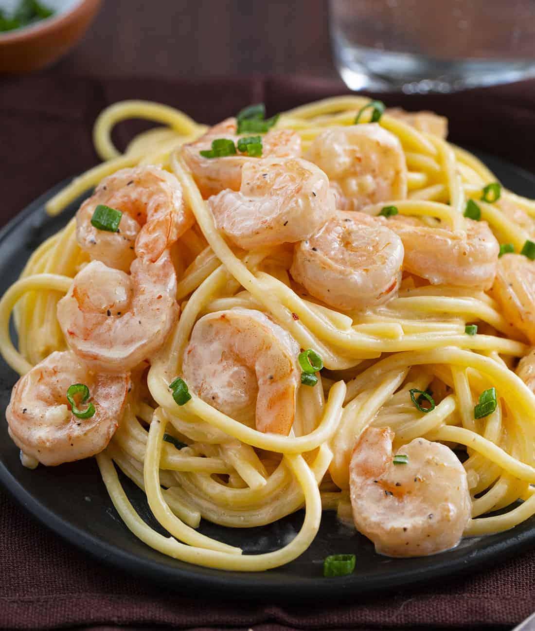 Plate of Bang Bang Shrimp Pasta Recipe