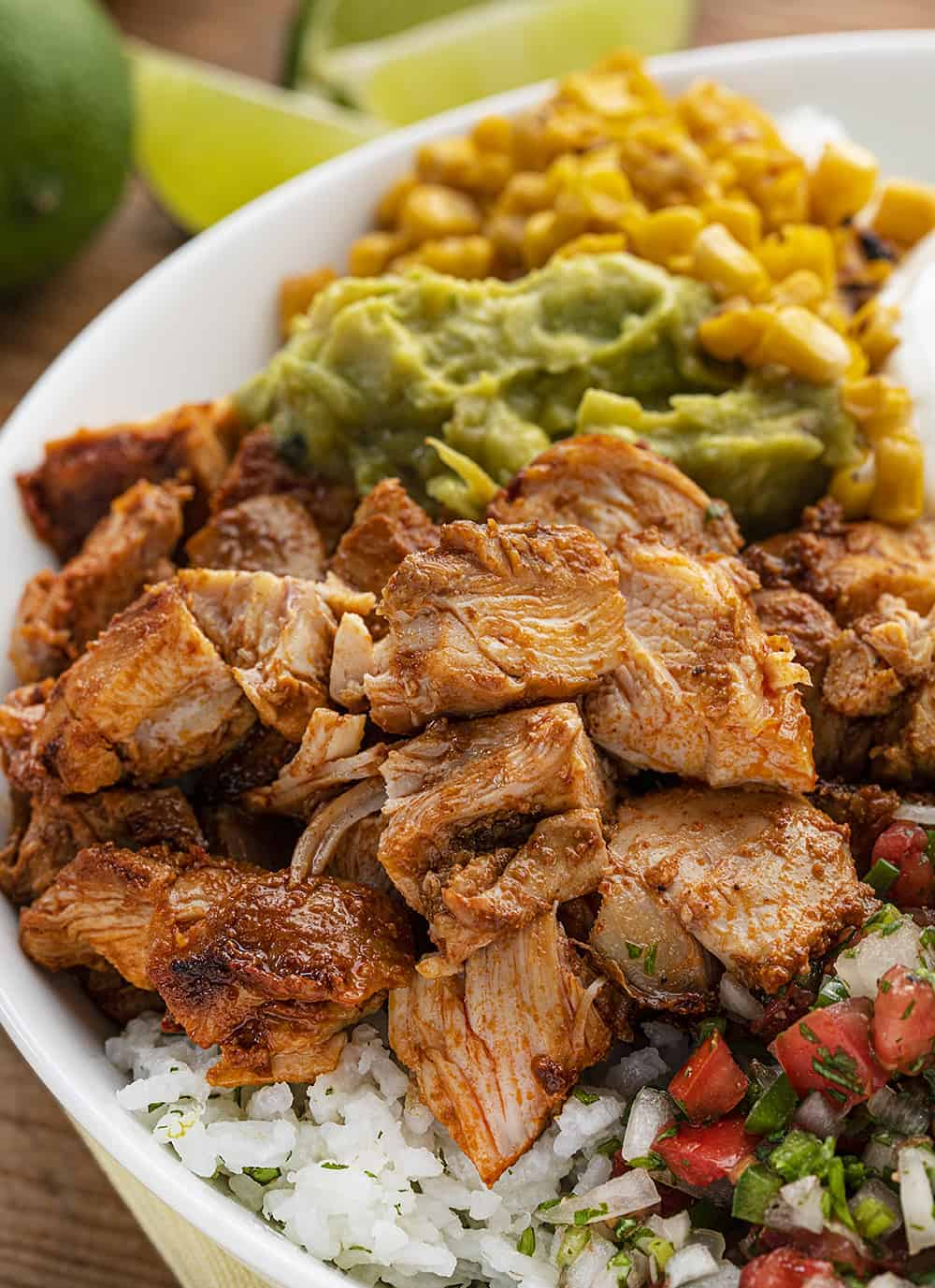 Close up of Copycat Chipotle Chicken