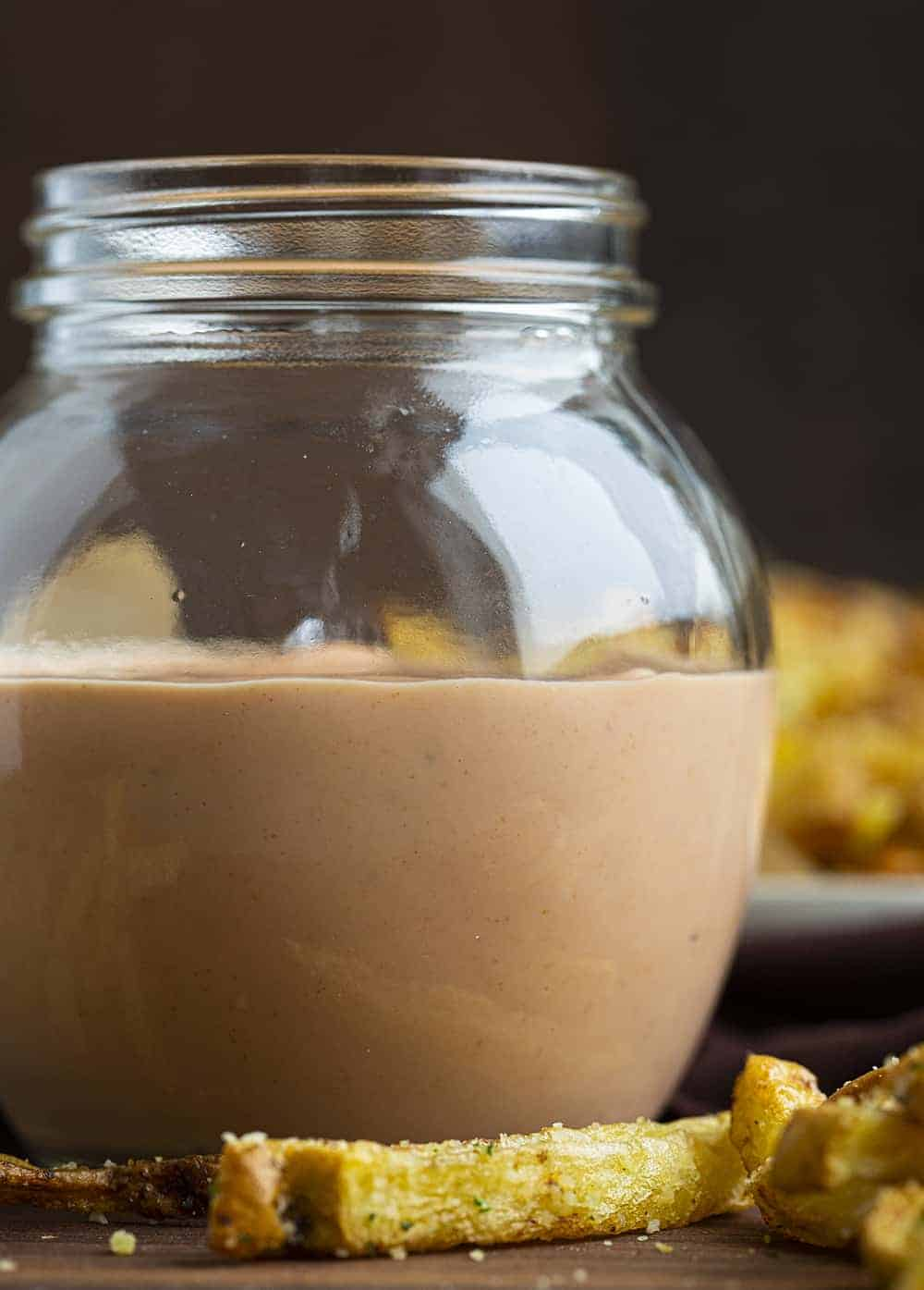 Jar of Homemade Fry Sauce