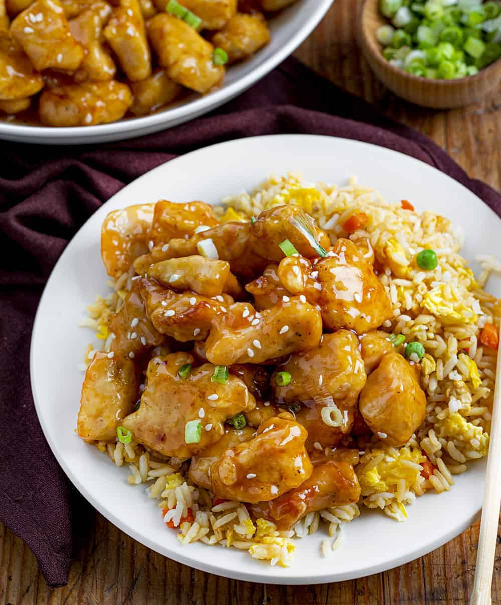 Plate of Sweet & Sour Chicken