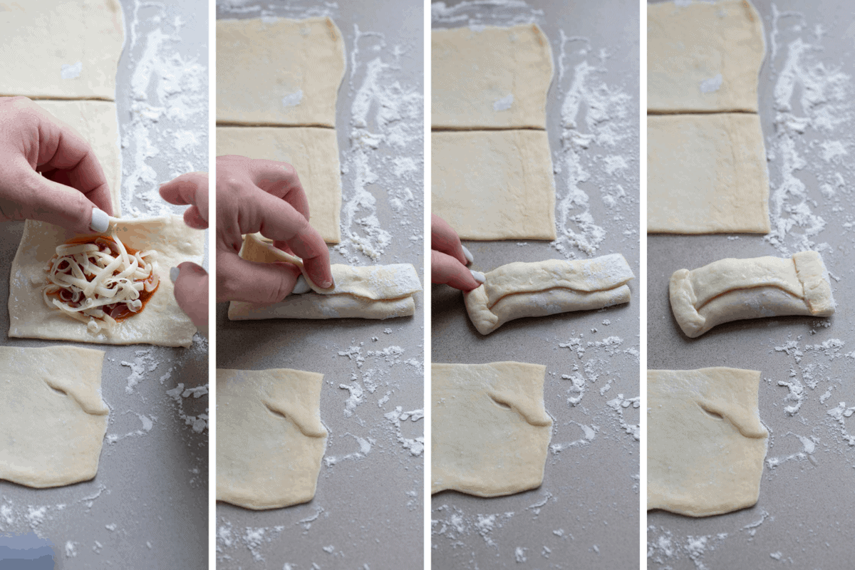 How to Fold Air Fryer Pizza Roll