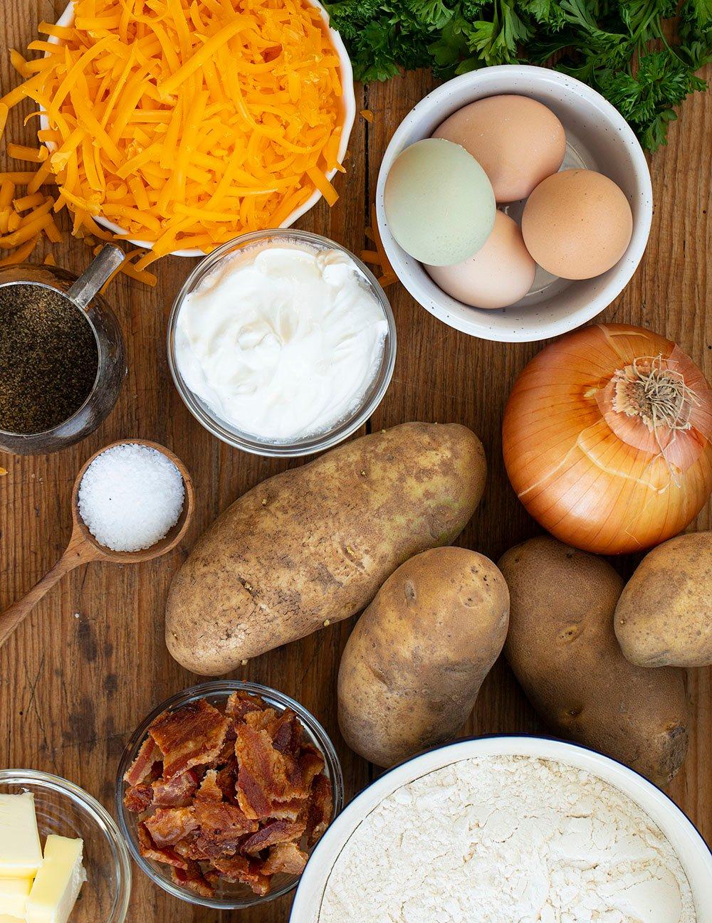 Rae Ingredients for Pierogi Ruskie (Potato and Cheese Pierogi)