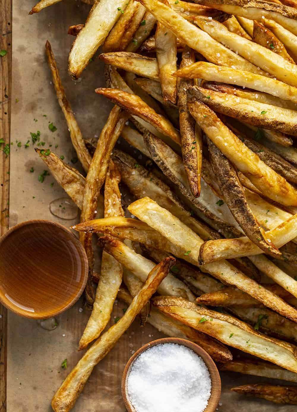 Salt & Vinegar French Fries Made in an Air Fryer