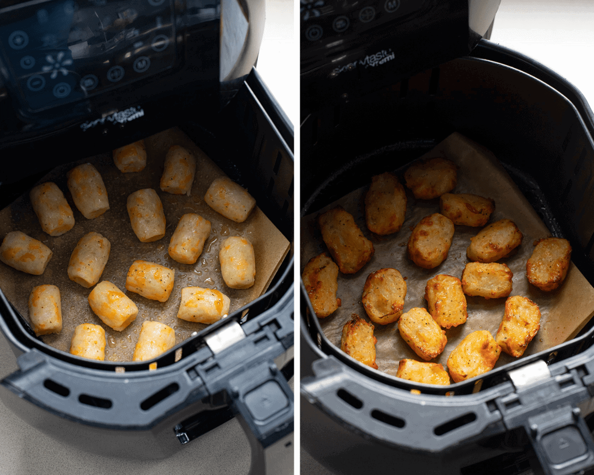 Cheesy Tater Tots in the Air Fryer