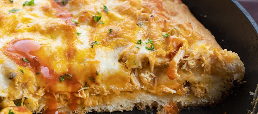 Buffalo Chicken Focaccia Bread
