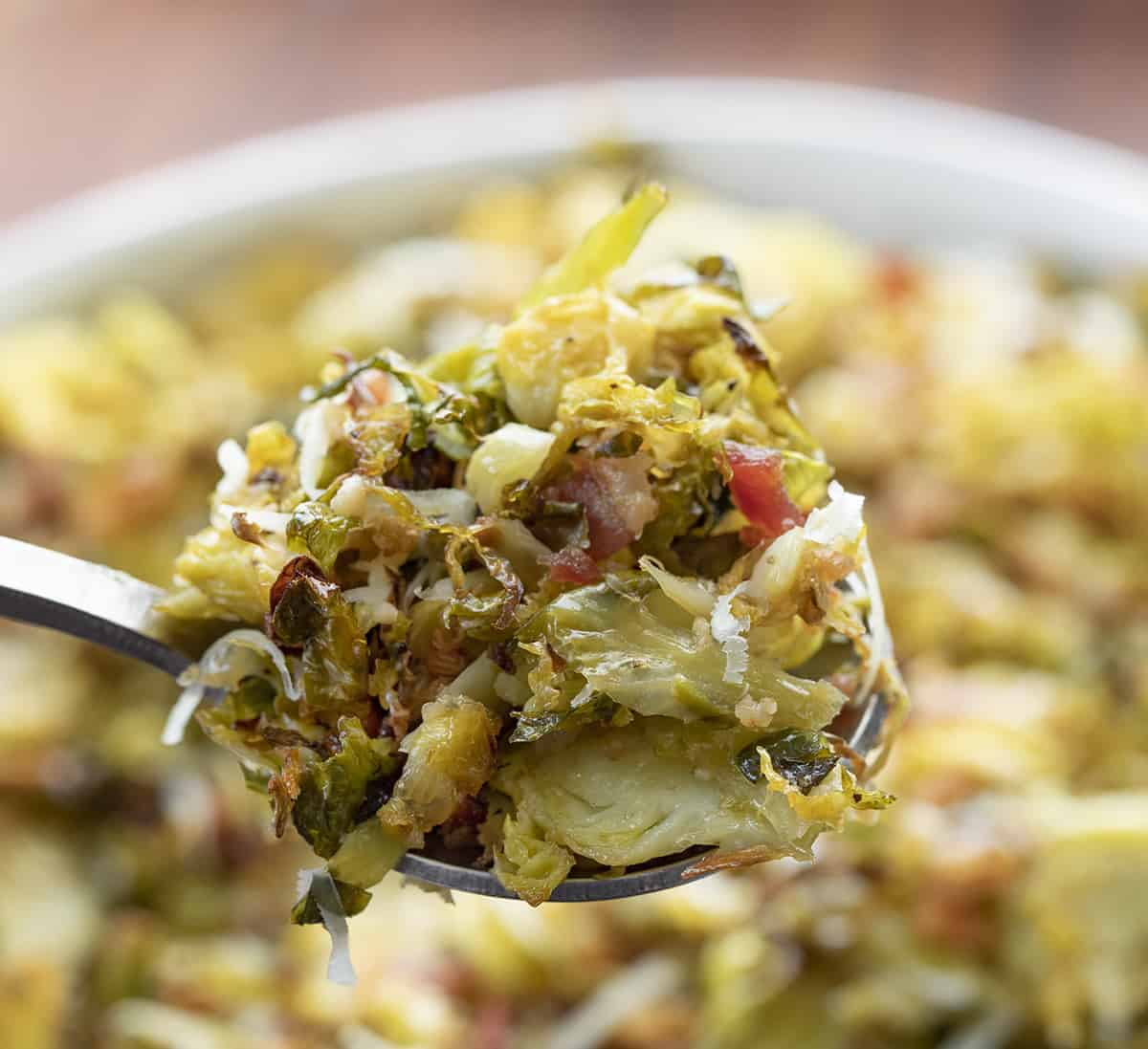 Spoonful of Shredded Brussels Sprouts