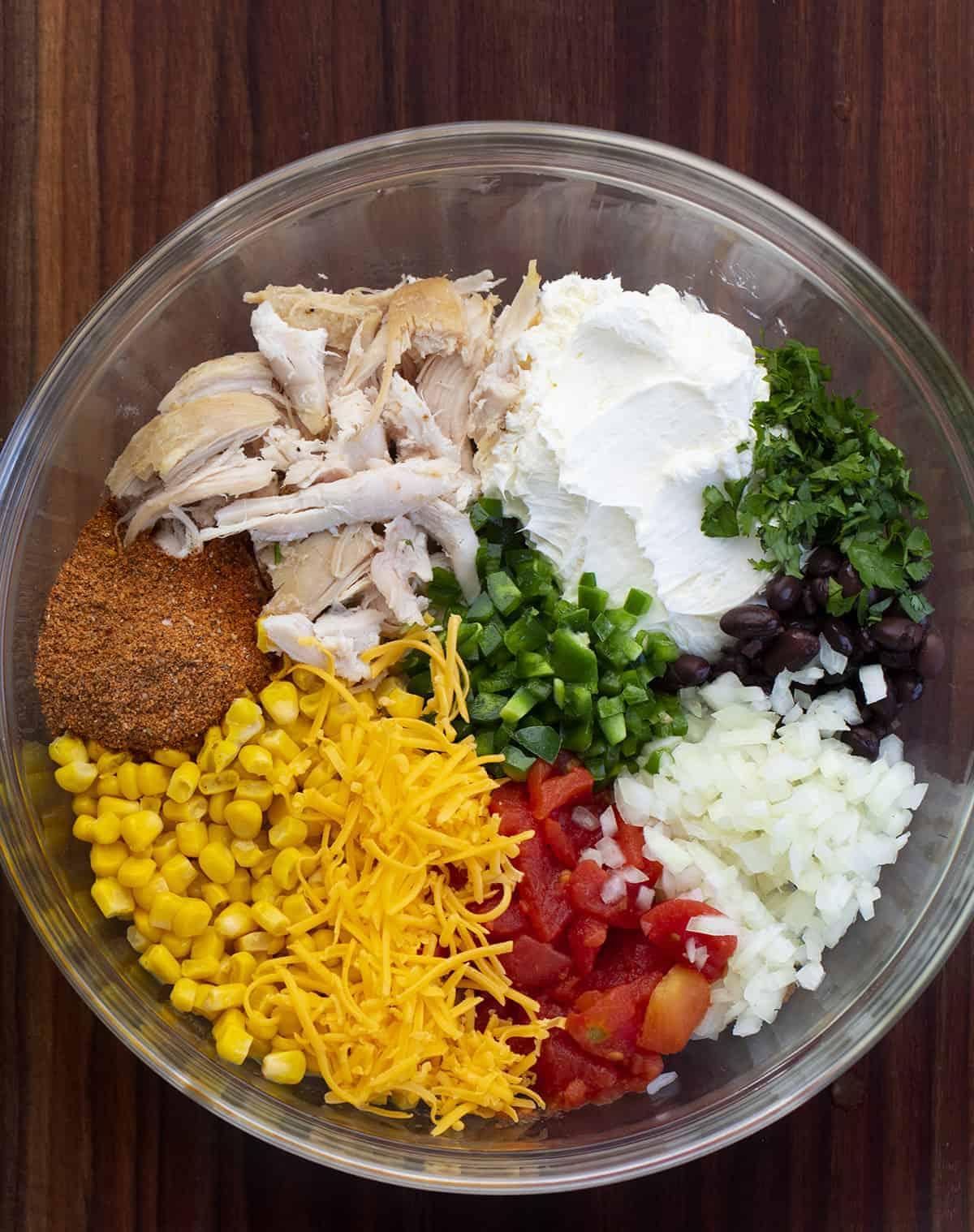 Ingredients for Filling for Air Fryer Southwest Eggrolls
