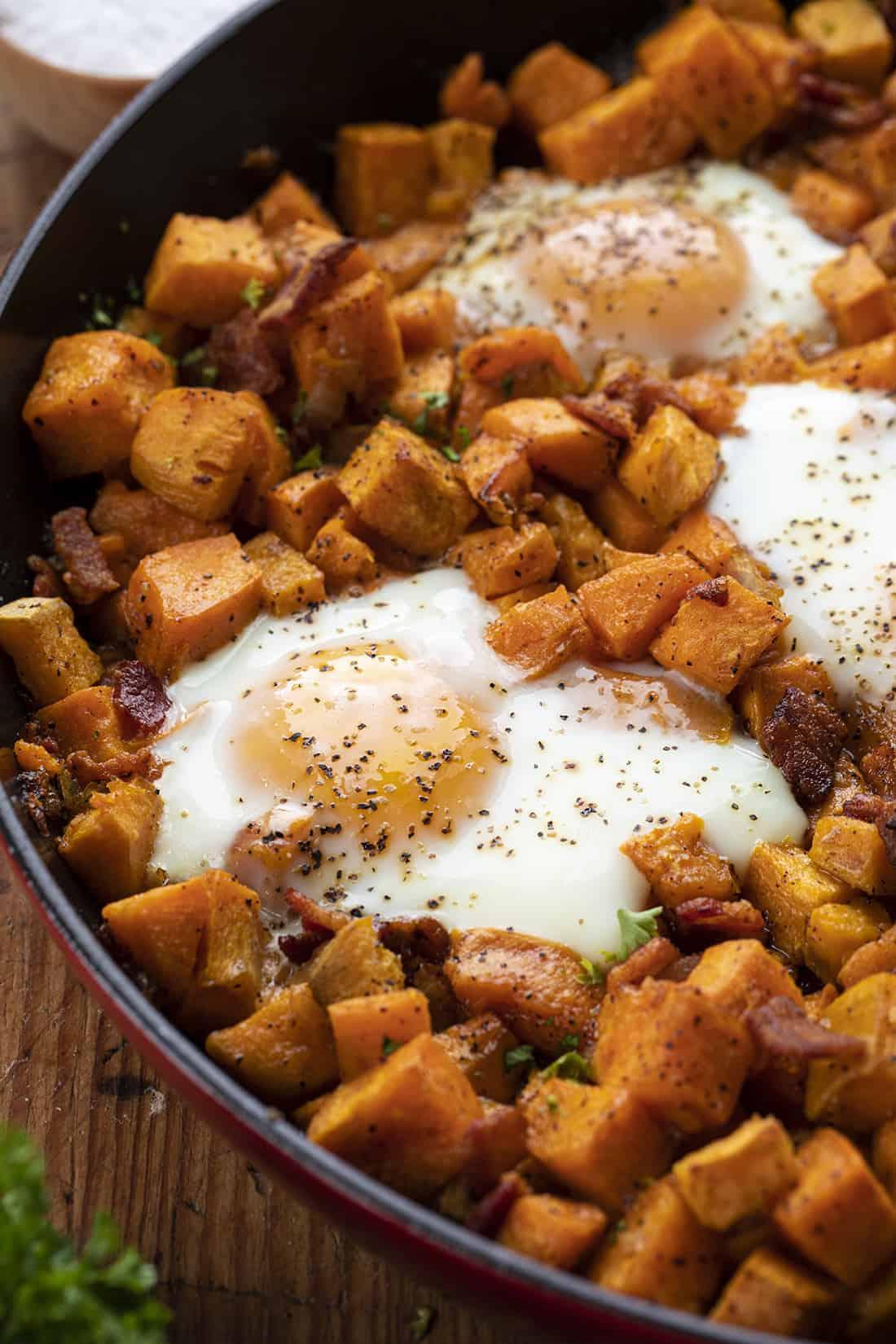 Pan of Sweet Potato Hash