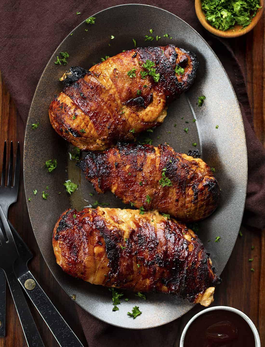 Air Fryer BBQ Stuffed Chicken