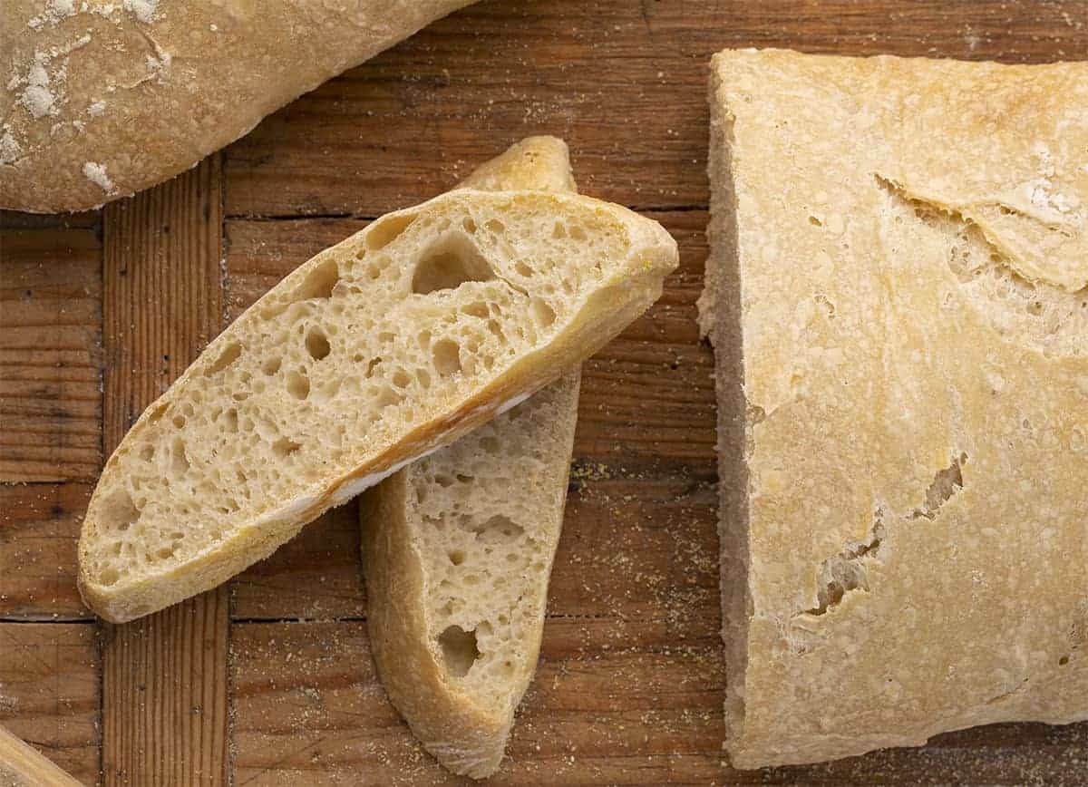 Slices of Cut Ciabatta Recipe