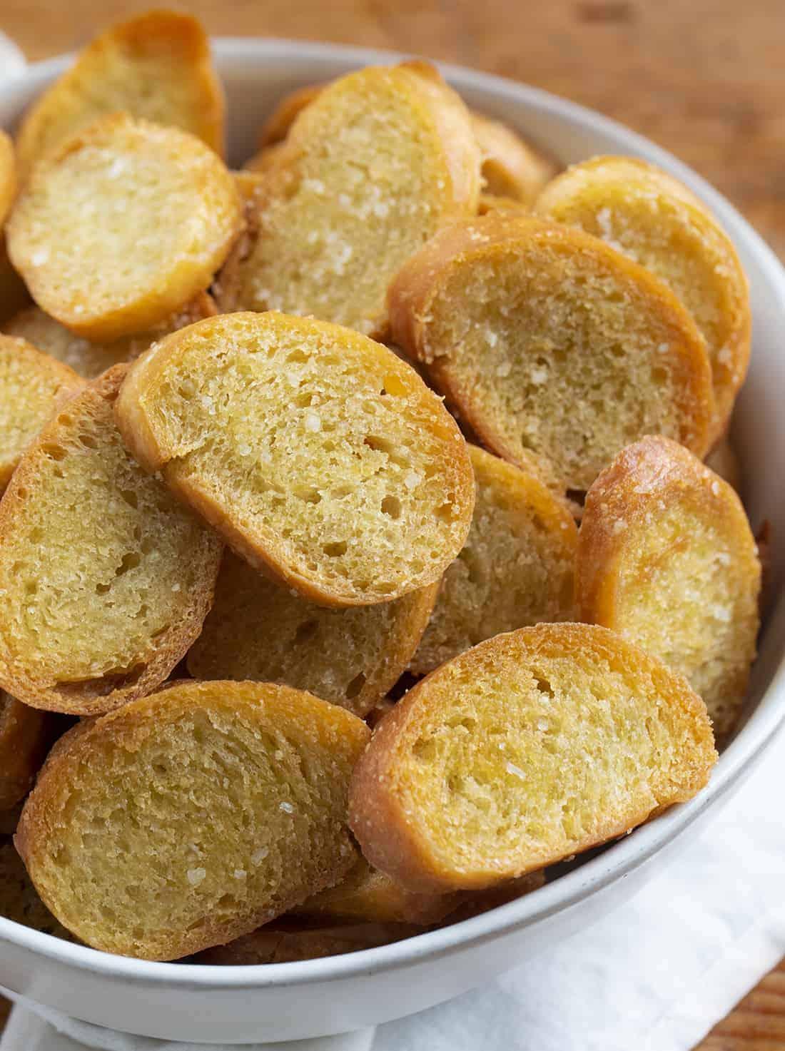Bowl of Toasted Crostini