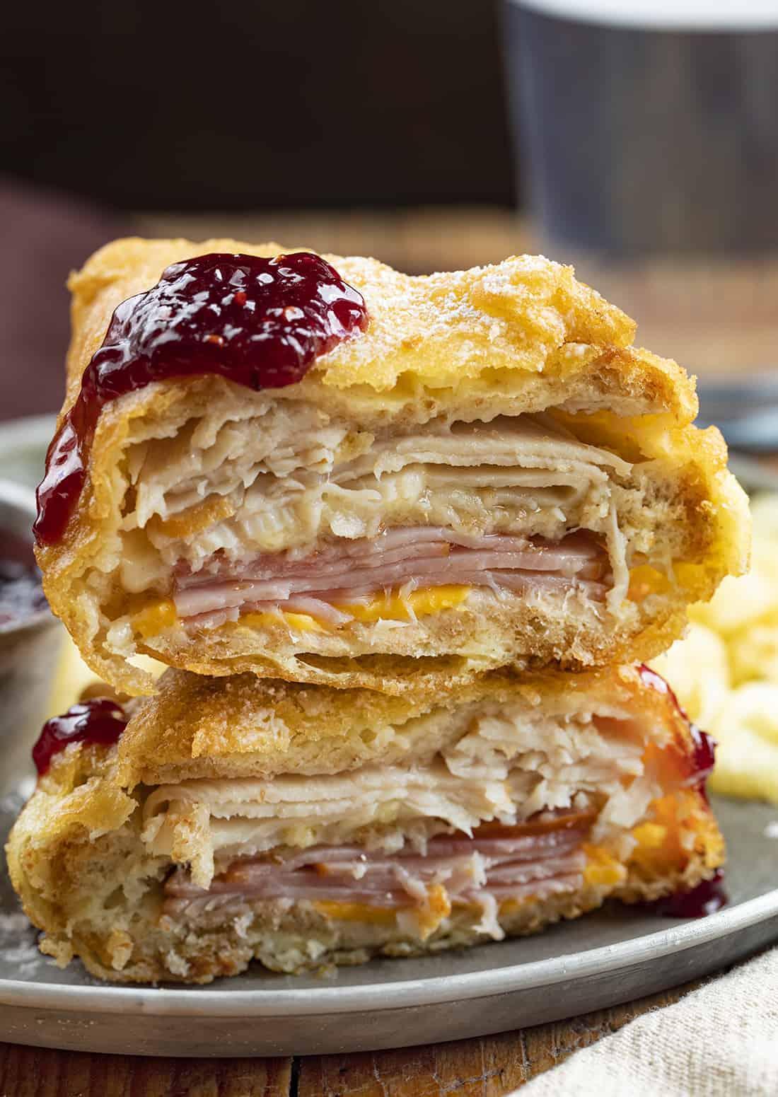 Stacked Monte Cristo Sandwich - Bennigan's Copycat