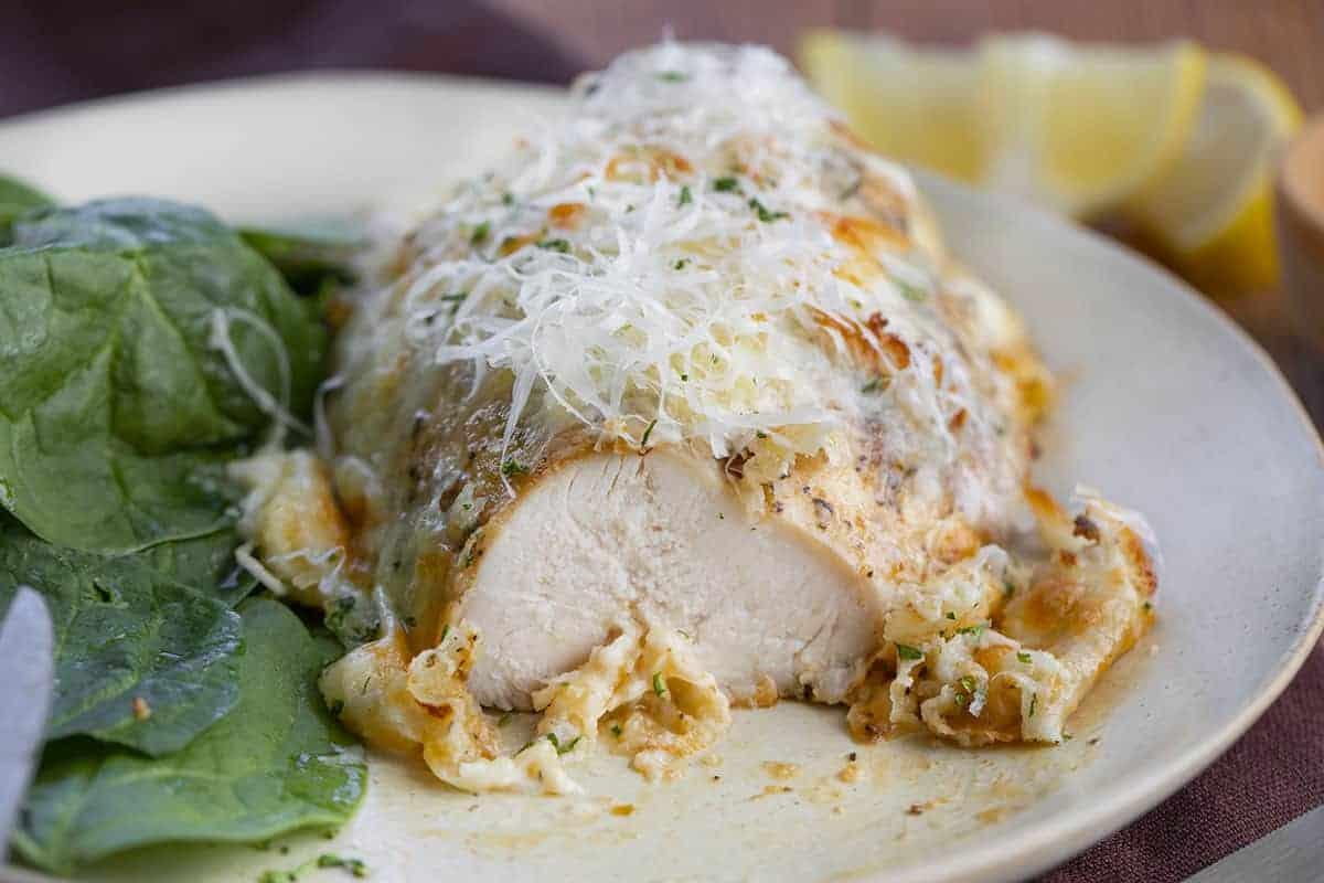 Cut Into Cheesy Parmesan Ranch Chicken