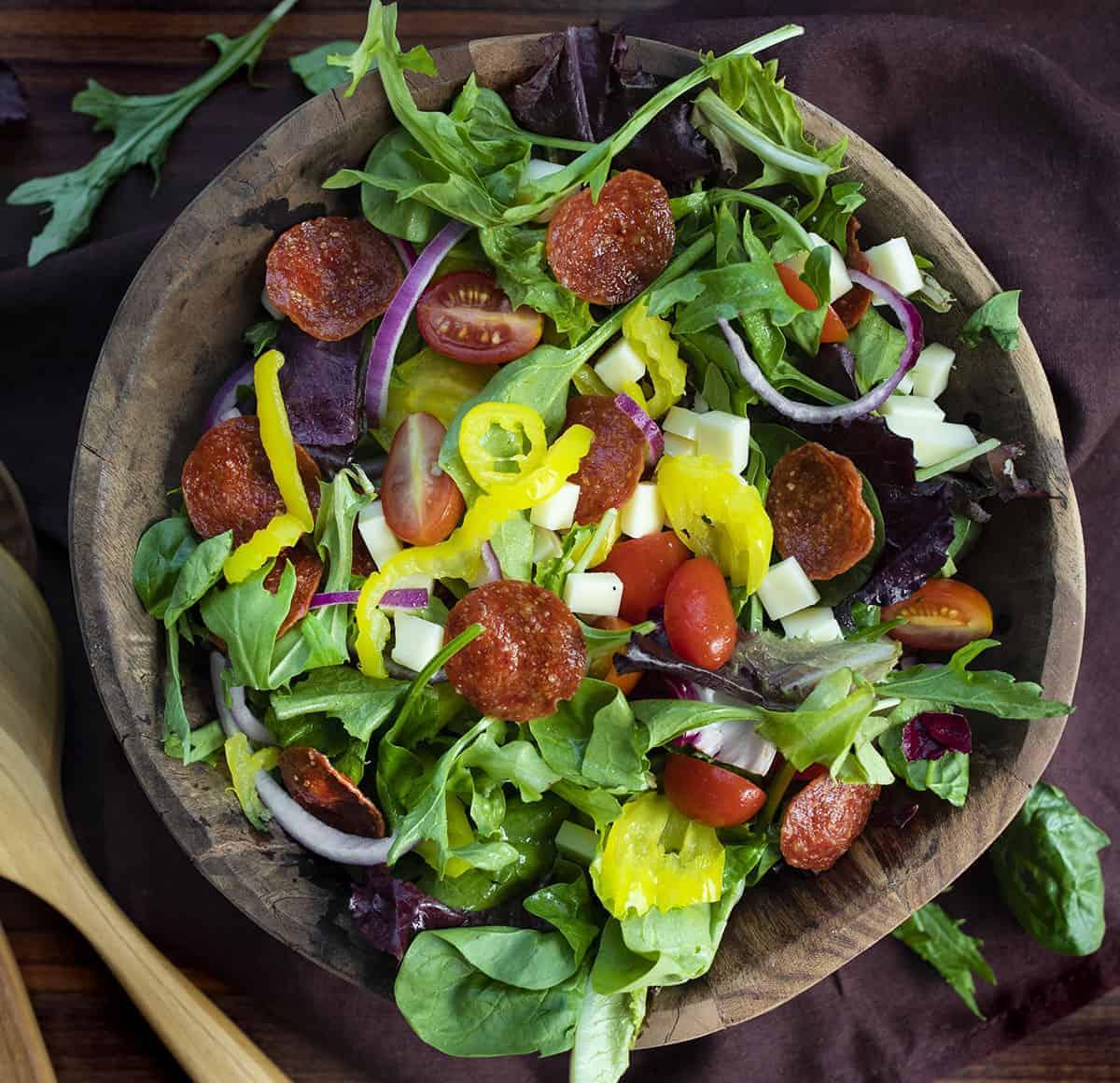 Bowl of Pepperoni Salad