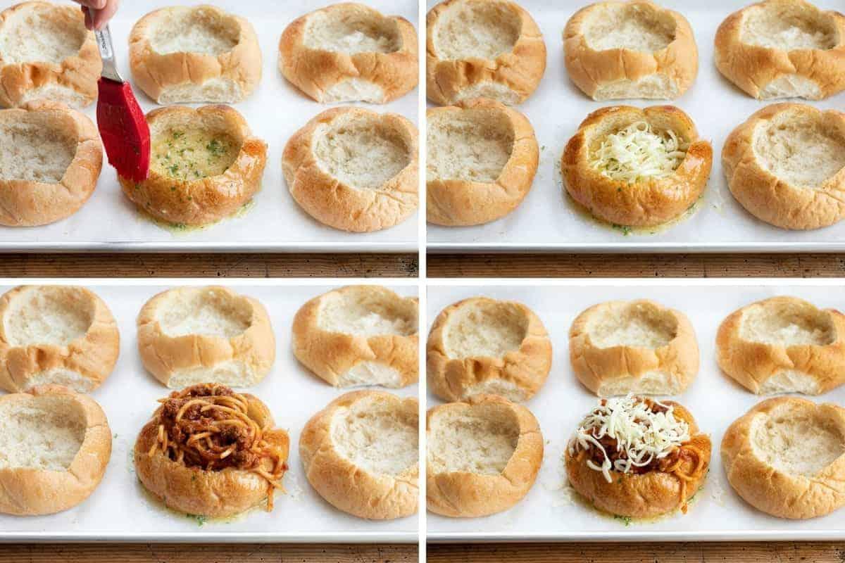 How to Make Bread Bowl Spaghetti