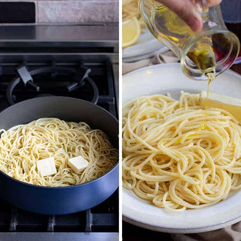 Process for Making Spaghetti Limone