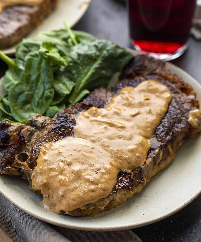 Steak Diane on Plate