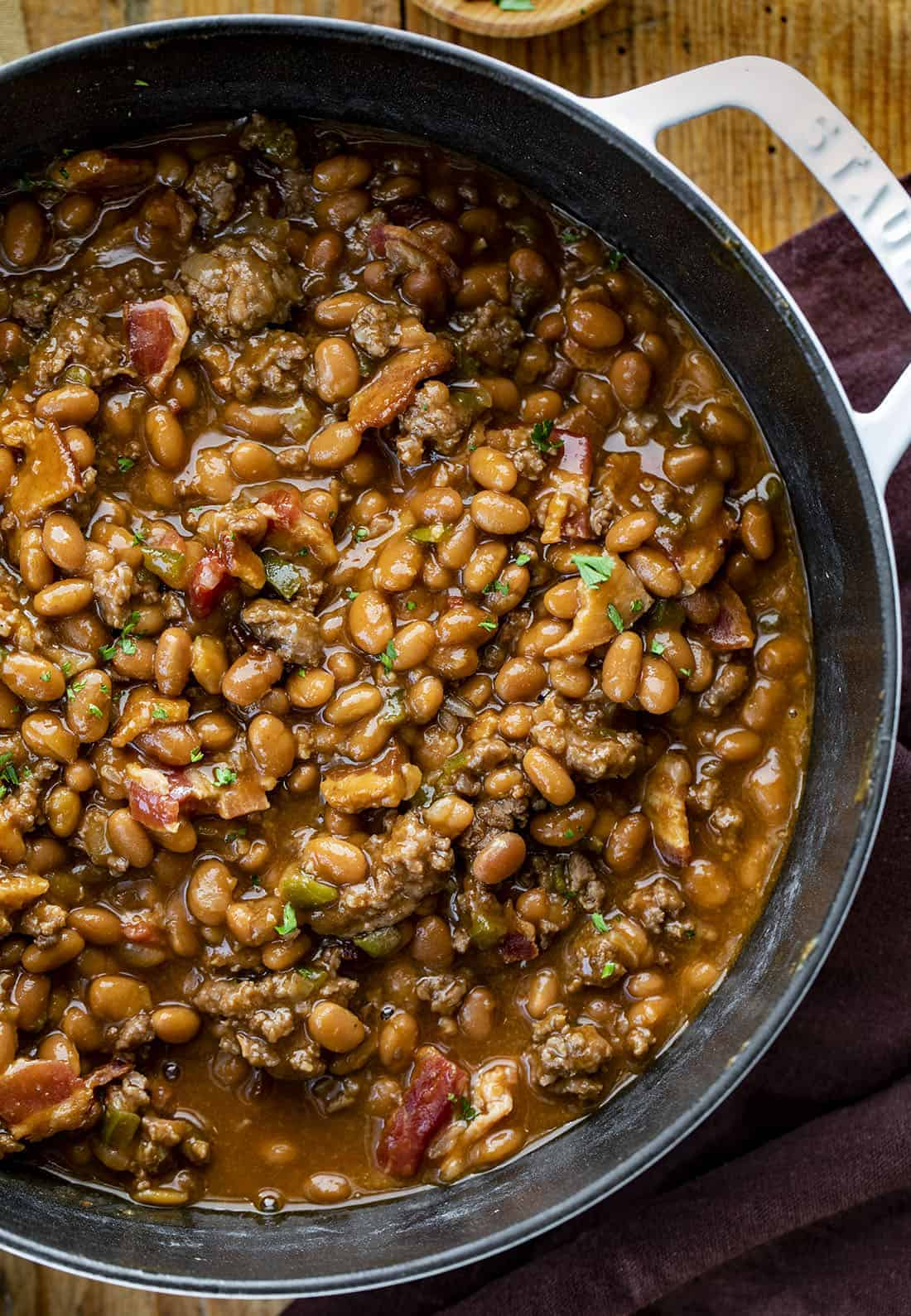 Cowboy Beans Recipe in Pot