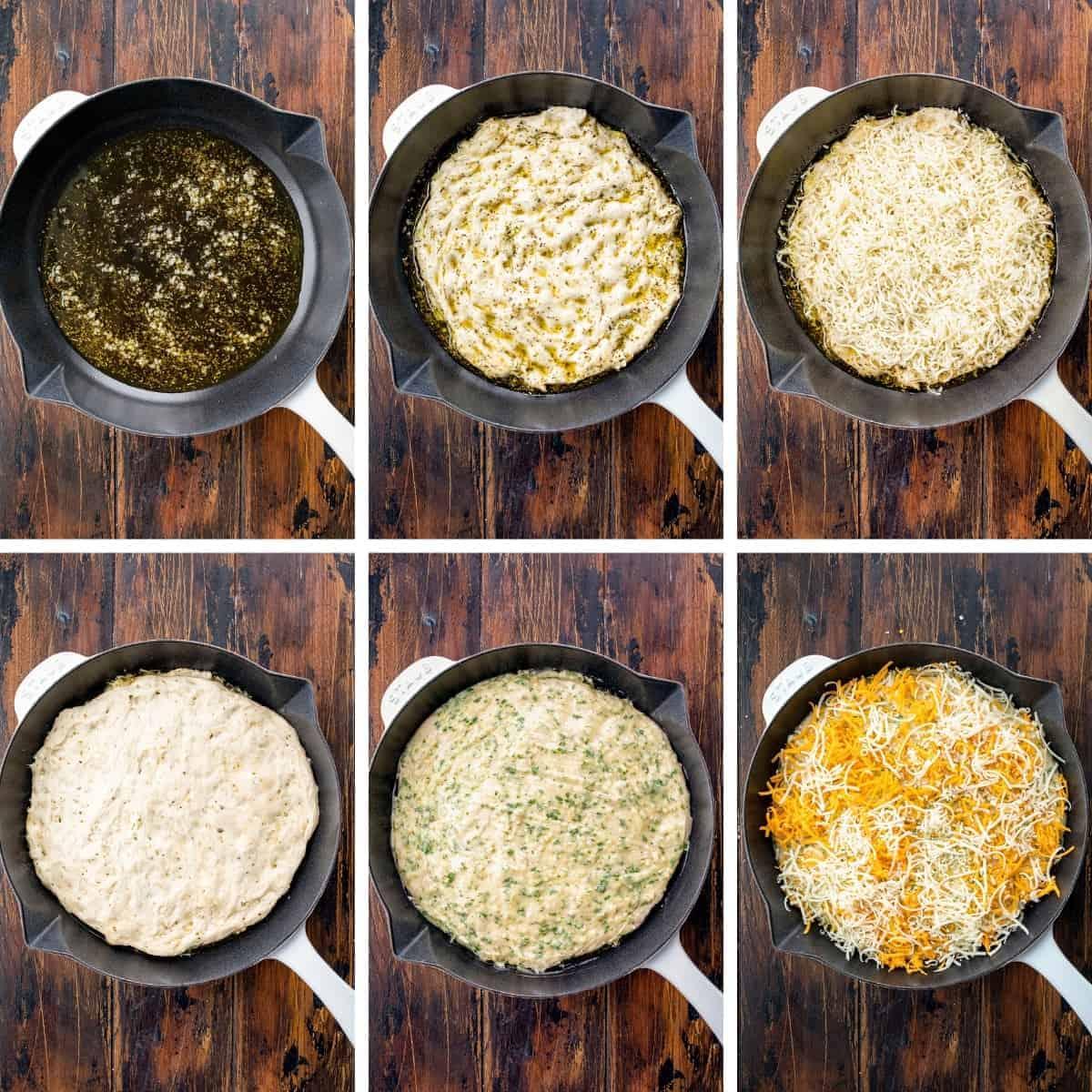 Steps for Layering Focaccia Cheesy Garlic Bread