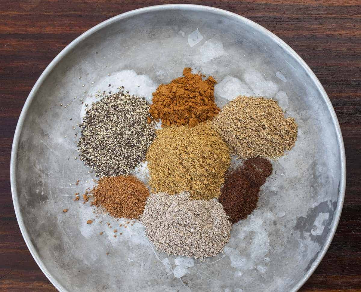 Plate of Ingredients for Garam Masala