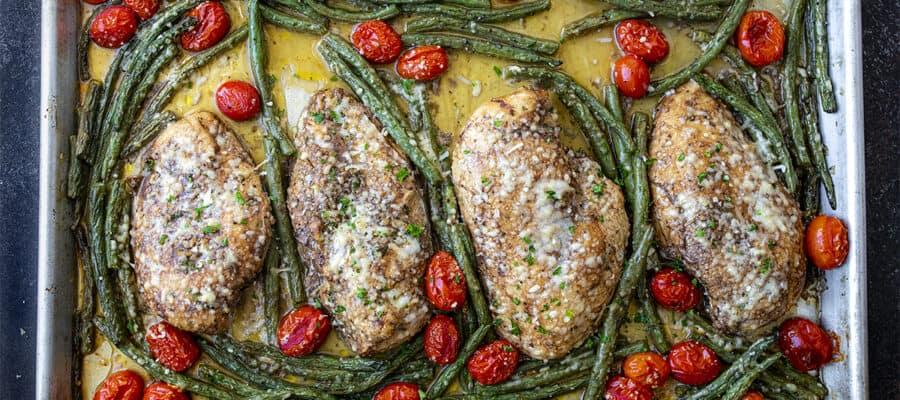 Tuscan Garlic Chicken {Sheet Pan}