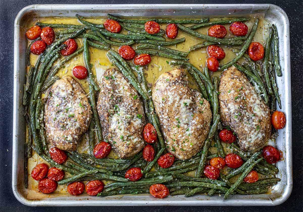 Sheet Pan Tuscan Garlic Chicken
