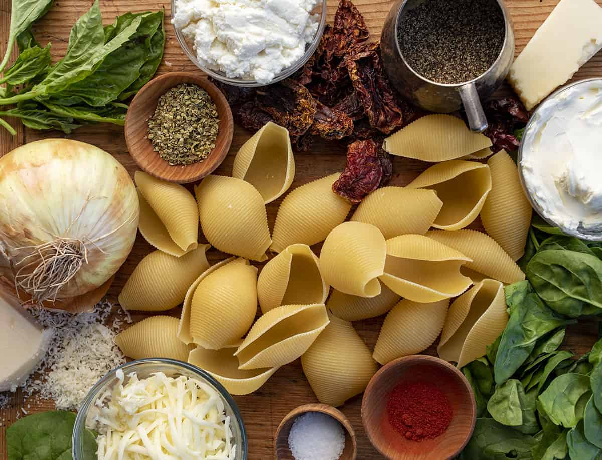 Raw Ingredients for Tuscan Stuffed Shells